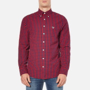 GANT Men's Gingham Seersucker Shirt - Thunder Red