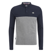 Le Shark Men's Benhill Long Sleeve Polo Shirt - Mid Grey Marl