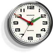 Newgate Brixton Wall Clock - Chrome