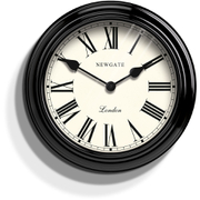 Newgate Gallery Wall Clock - Ebony Black