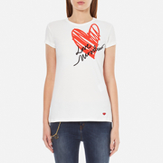 Love Moschino Women's Heart T-Shirt - White