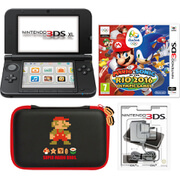 Nintendo 3DS XL Black + Mario & Sonic at the Rio 2016 Olympic Games Pack
