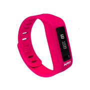 Xtreme Cables Xfit Bluetooth Water Resistant Fitness Tracker and Watch (Including App) - Pink