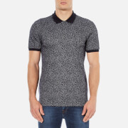 HUGO Men's Dinello Jacquard Polo Shirt - Navy