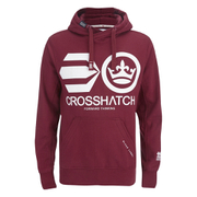Crosshatch Men's Quon Kangaroo Pocket Hoody - Syrah