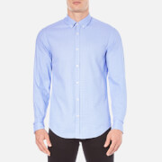 BOSS Green Men's C-Baldasar Long Sleeve Shirt - Blue