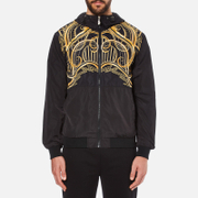 Versace Jeans Men's Printed Hooded Jacket - Black