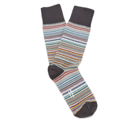 Paul Smith Accessories Men's Multi Stripe 3 Pack Socks - Sky Blue/Elephant Grey/Classic