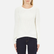 Vero Moda Women's Lex Long Sleeve Jumper - Snow White