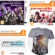 Fire Emblem Fates: Conquest + Birthright DLC + Revelations DLC + T-Shirt