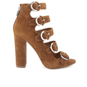 Kendall & Kylie Women's Evie Suede Strappy Heeled Sandals - Modern Cognac