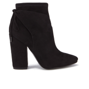 Kendall + Kylie Women's Zola Suede Heeled Ankle Boots - Black
