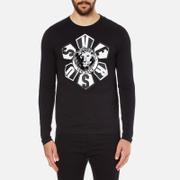 Versus Versace Men's Large Logo Long Sleeve T-Shirt - Black