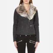 ONLY Women's Trust Faux Leather Biker Jacket - Black