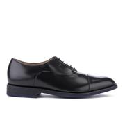 Clarks Men's Swinley Cap Leather Toe Cap Shoes - Black