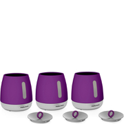 Morphy Richards 971364 Chroma Set of 3 Canisters - Plum