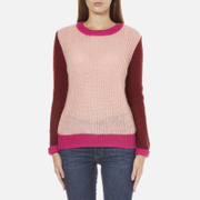 Maison Scotch Women's Fluffy Crew Neck Jumper - Multi