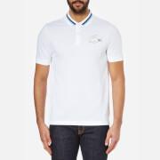 Lacoste L!ve Men's Large Logo Short Sleeve Polo Shirt - White/Catamaran/Jazz