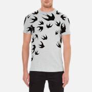 McQ Alexander McQueen Men's Swallow Print Crew T-Shirt - Mercury Melange