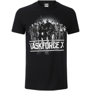 DC Comics Mens Suicide Squad Taskforce X T-Shirt - Zwart