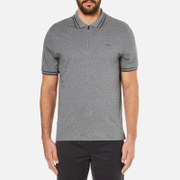 Michael Kors Men's Double Collar Zip Polo Shirt - Ash Melange