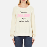 Wildfox Women's New Clothes Kims Sweatshirt - Vanilla Latte