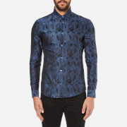 Versace Collection Men's All Over Pattern Long Sleeve Shirt - Foschia
