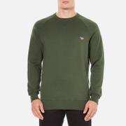 Maison Kitsuné Men's Tricolor Patch Sweatshirt - Khaki