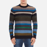 PS by Paul Smith Men's Crew Neck Striped Jumper - Multi