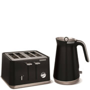Morphy Richards Aspect Steel 4 Slice Toaster and Kettle Bundle - Black