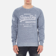 Superdry Men's Classics True Indigo Crew Sweatshirt - Raw Indigo