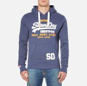 Superdry Men's Sweat Shirt Store Hoody - Princeton Blue Marl