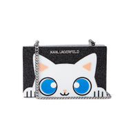 Karl Lagerfeld Women's Choupette Minaudiere Clutch Bag - Black