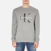 Calvin Klein Men's Crew Neck Sweatshirt - Mid Grey Heather