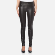 Helmut Lang Women's Stretch Leather Pants - Black