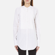 Helmut Lang Women's Raw Tuxedo Shirt - White/Multi