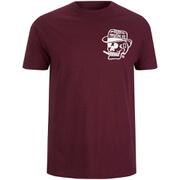 Rum Knuckles Mens Classic Logo T-Shirt - Burgundy