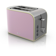 Swan ST17020PN 2 Slice Retro Toaster - Pink