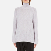 Paisie Women's Turtle Neck Jumper with Bell Sleeves - Lilac