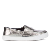 TOMS Women's Altair Leather Slip-On Trainers - Gunmetal