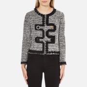Boutique Moschino Women's Tweed Embellished Jacket - Black