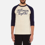 Billionaire Boys Club Men's Script Logo Raglan T-Shirt - Beige/Navy