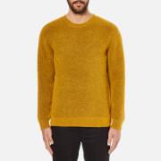Folk Men's Textured Knitted Jumper - Amber