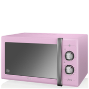 Swan SM22070PN 25L Retro Manual Microwave - Pink