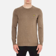 Lyle & Scott Men's Crew Neck Cotton Merino Jumper - Braken Brown