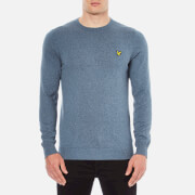 Lyle & Scott Men's Crew Neck Cotton Merino Jumper - Niagara Blue