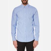 Tommy Hilfiger Men's Lexington Long Sleeve Shirt - Shirt Blue