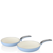 Swan Retro Frying Pans - Sky Blue (20cm/28cm)