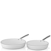 Tower Linear Fry Pan Set - White (2 Piece)