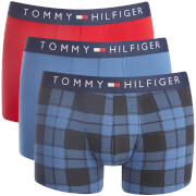Tommy Hilfiger Men's Icon 3 Pack Trunks - True Navy/Scooter